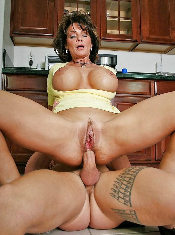Mom tits big