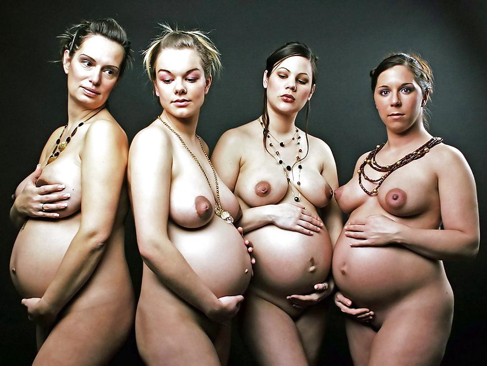 Голые Беременные Девки Фото