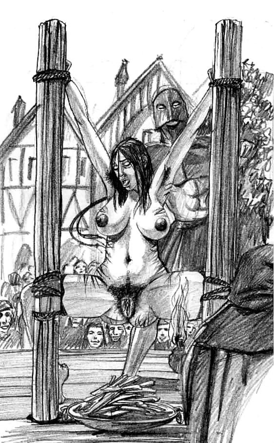 Adult BDSM Artwork Impale Cutting