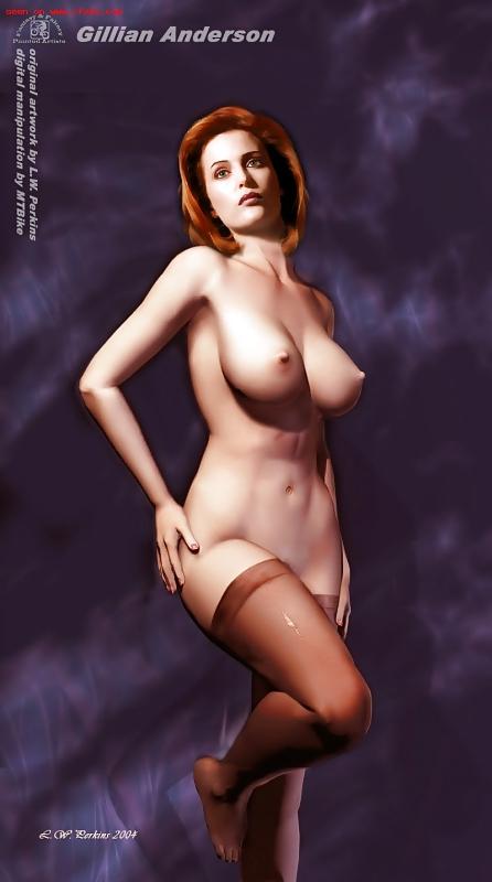 Gillian Anderson Fake Nude Porn