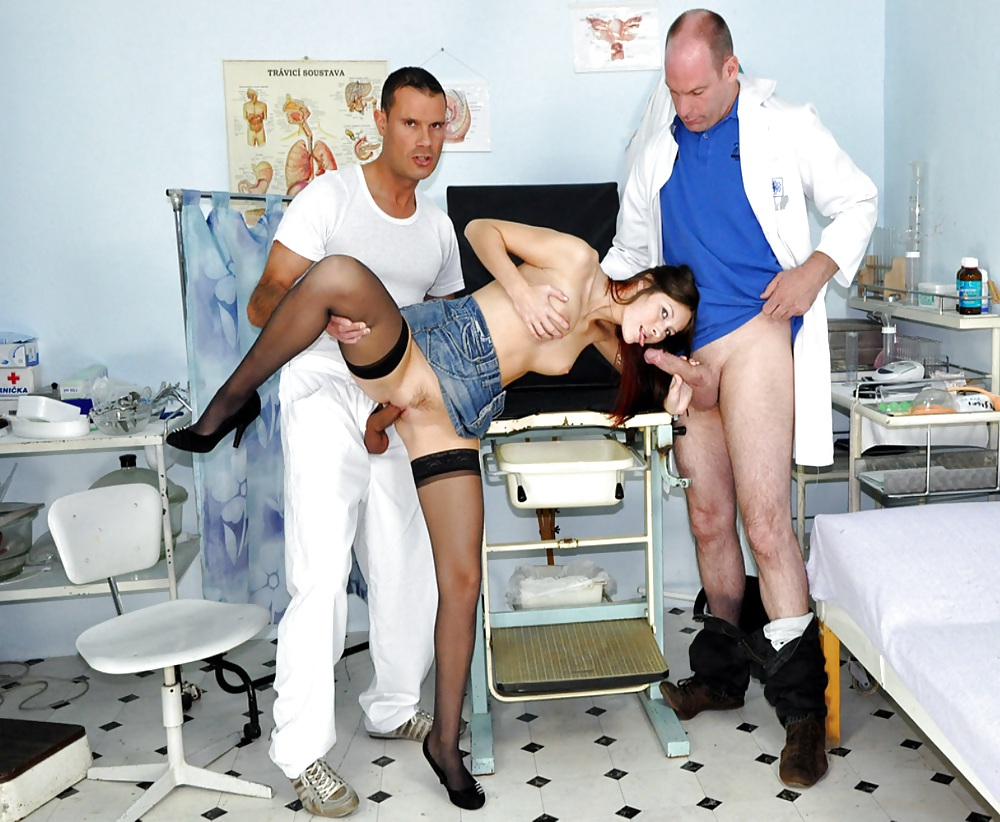Fake doctor fucks married woman as husband waits pics