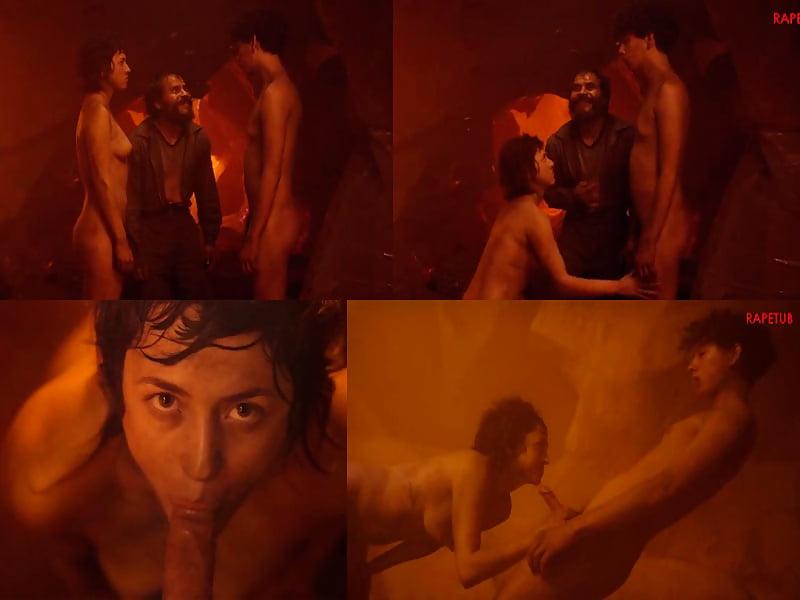 Explicit nude stripper in mainstream