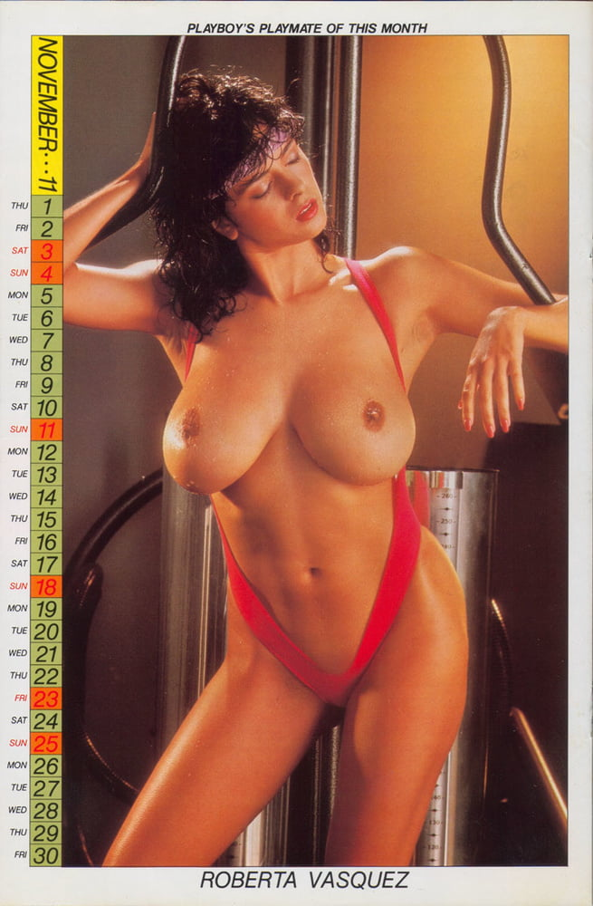 Roberta Vasquez November Wet Playboy Brunette Babe Pichunter 1