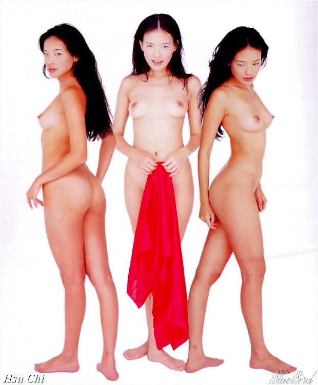 Chinese hsu chi almost nude on the catwalk