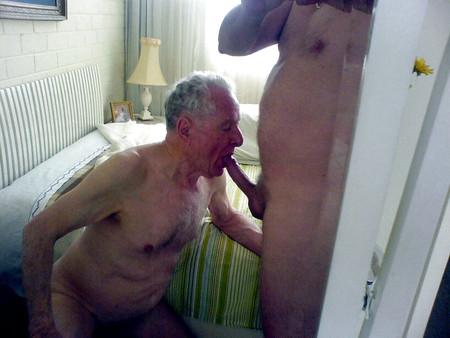 Gay silverhaired gentlemen suck cock