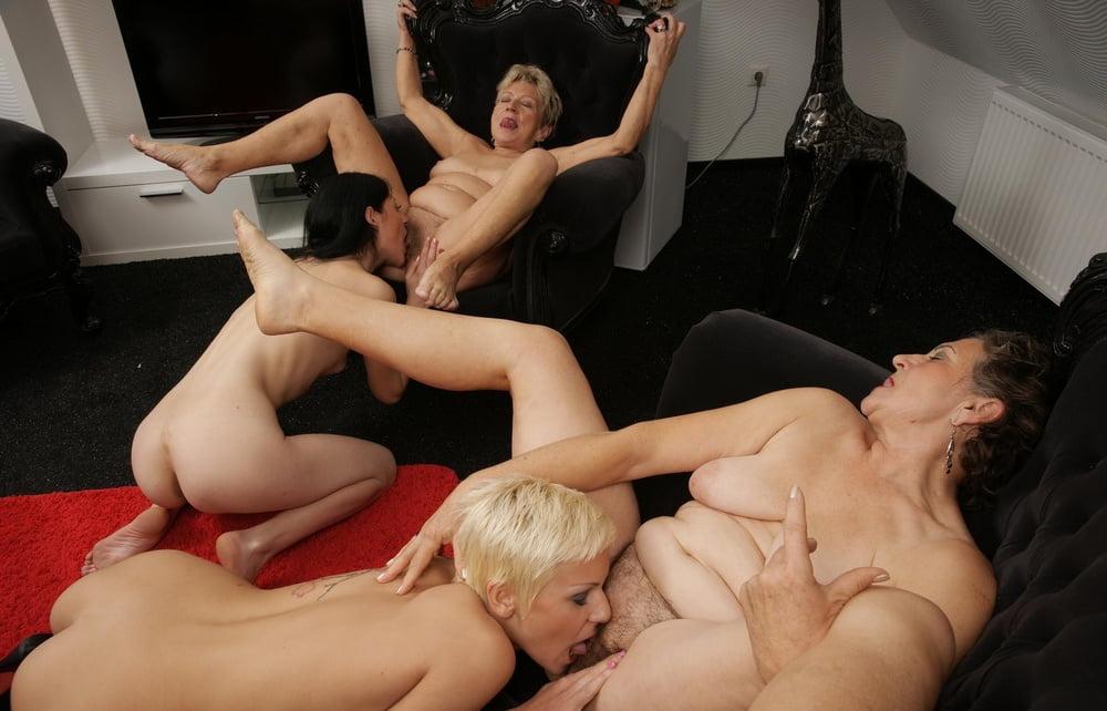 Lesbian Grandma Orgy