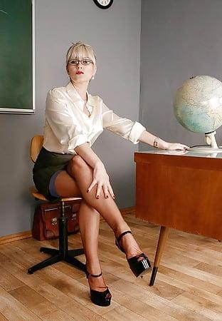 School teacher upskirt