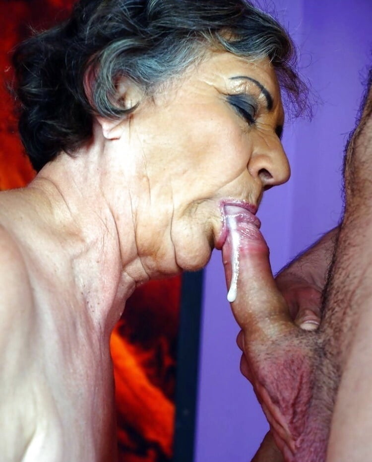 Grannys over suck dick with girls skirts