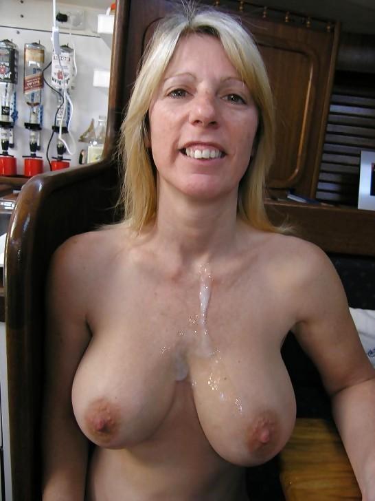 Huge natural tits granny
