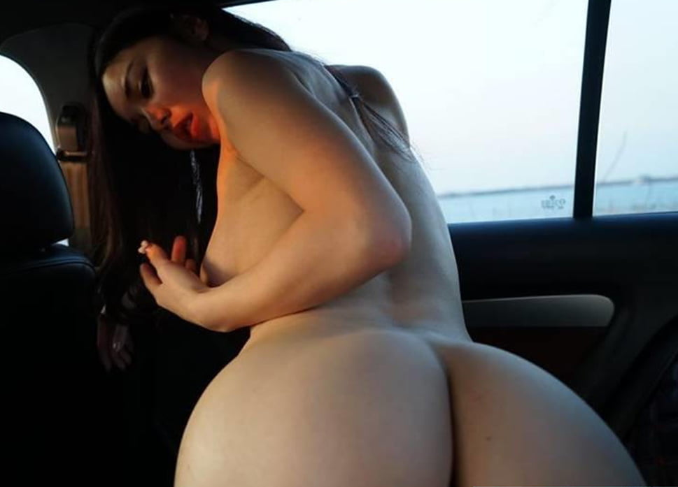 Lesbians having sex in car