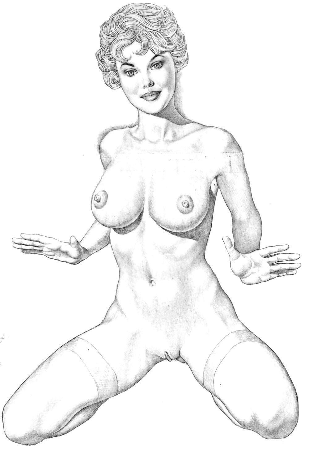 Рисунки голых девок карандашом порно рисунки — 10
