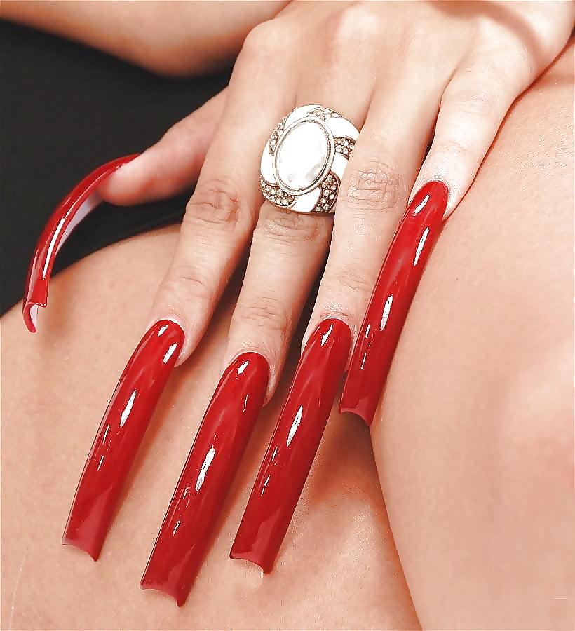 Длинные женские ногти порно — 8