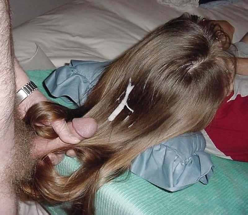 Сперма в волосах частное порно фото #6