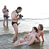 Caught erecting at nude beach - part 3