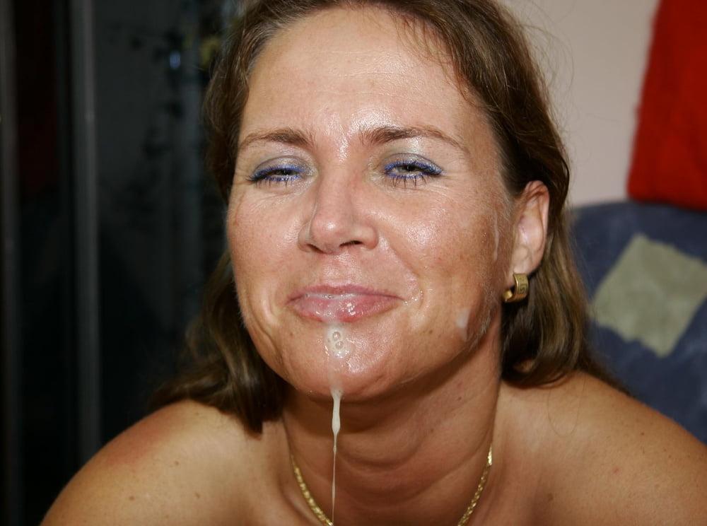 Milf facial cumshots