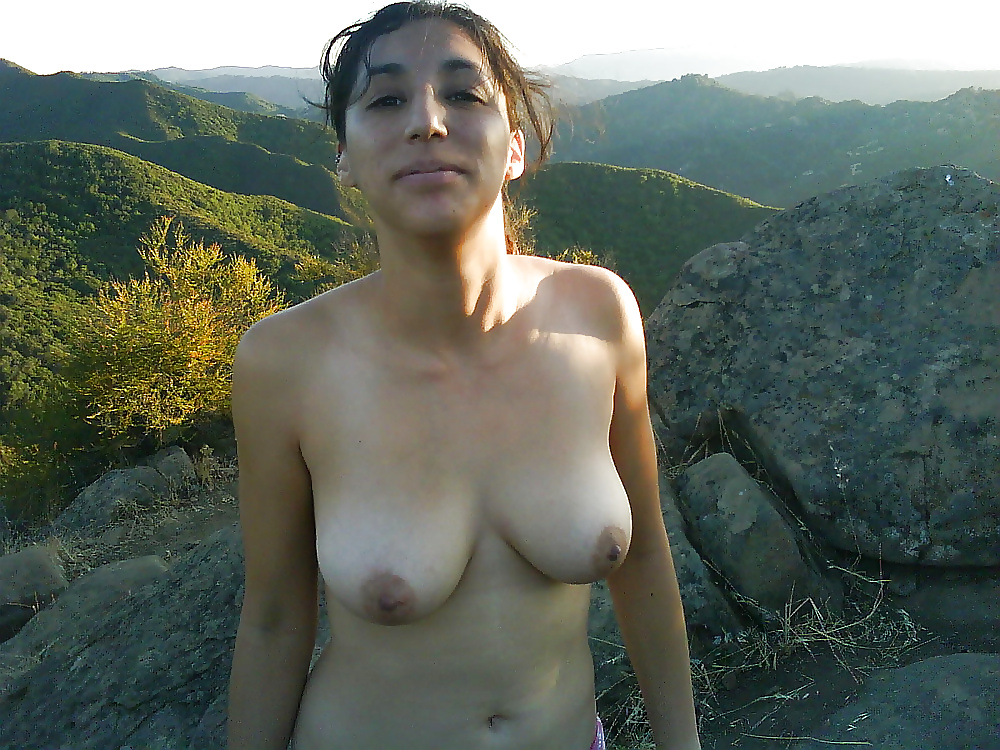 hot babe naked in the mountains