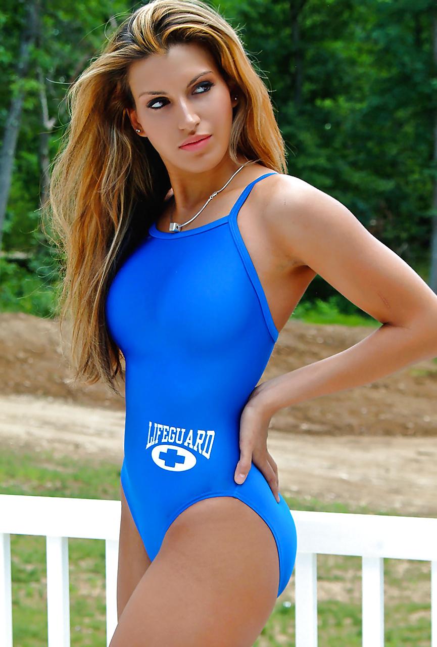 Beauty sexy lifeguard image photo