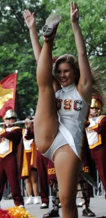 Candid cheerleading upskirt