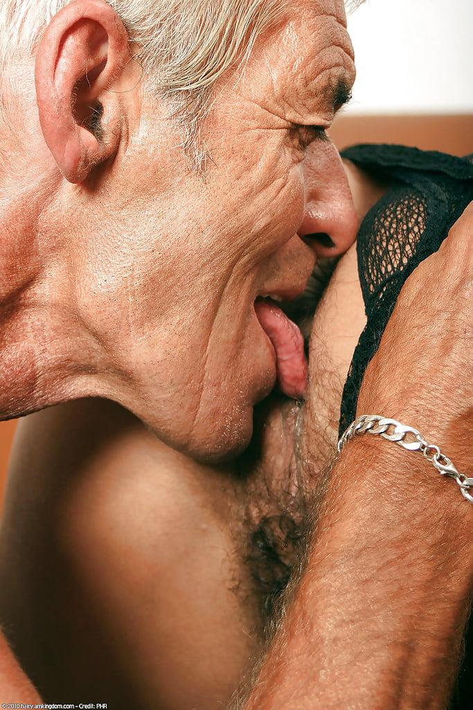 Male eats granny pussy