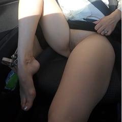 Up Skirt No Panties! In Car
