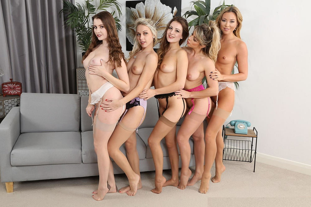 Girls playing naked twister