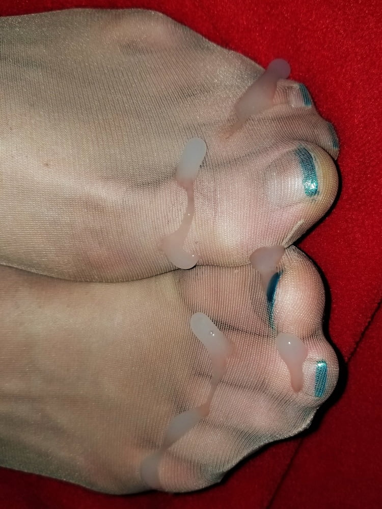 My french pedicure feet and soles with socks and nylons