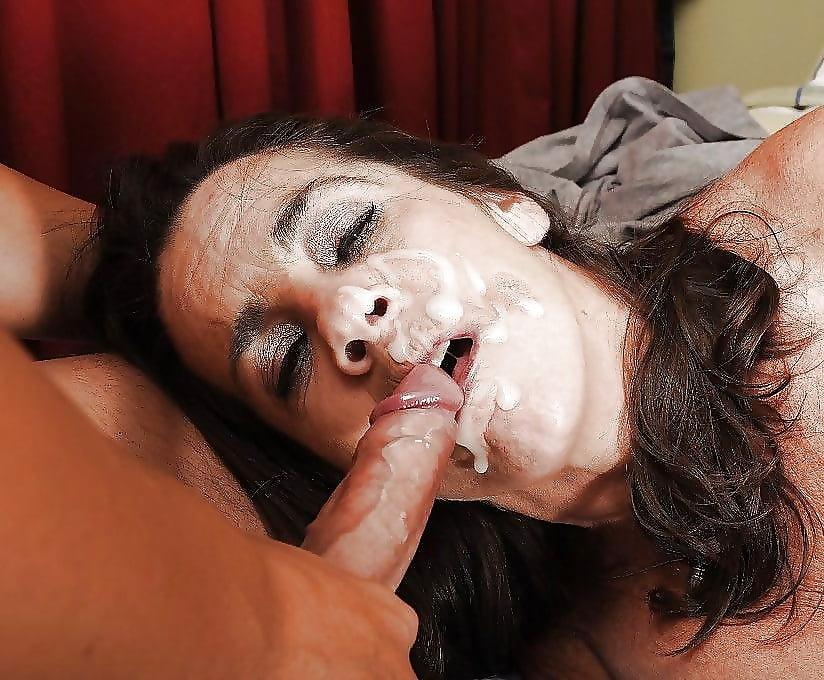 Фото мамок с кончиной во рту толстые
