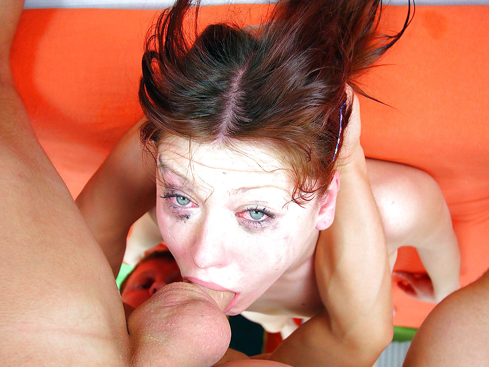 Gagging on big cock