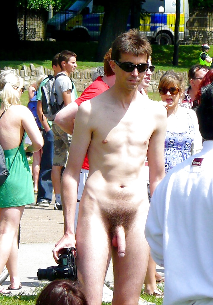 Naked man with a full erection