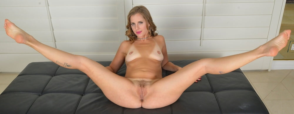 Shaved Standing Nude Legs Apart