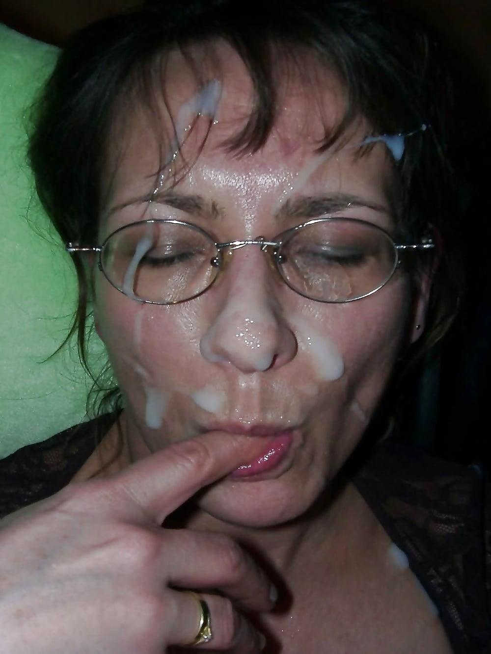 Фото зрелых со спермой на лице — 9