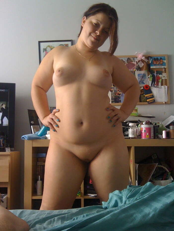 Naked Chubby Girl Self Shot