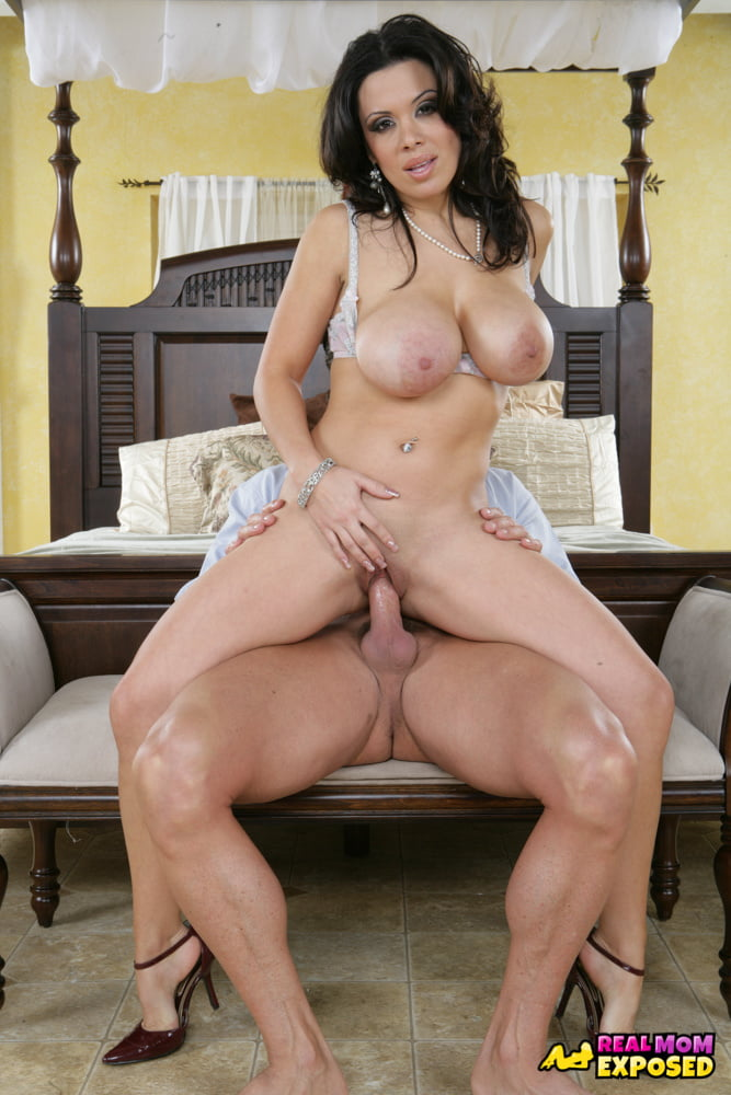 MILF Sienna West Rides Cock And He Jerks Off On Her Tits - 70 Pics