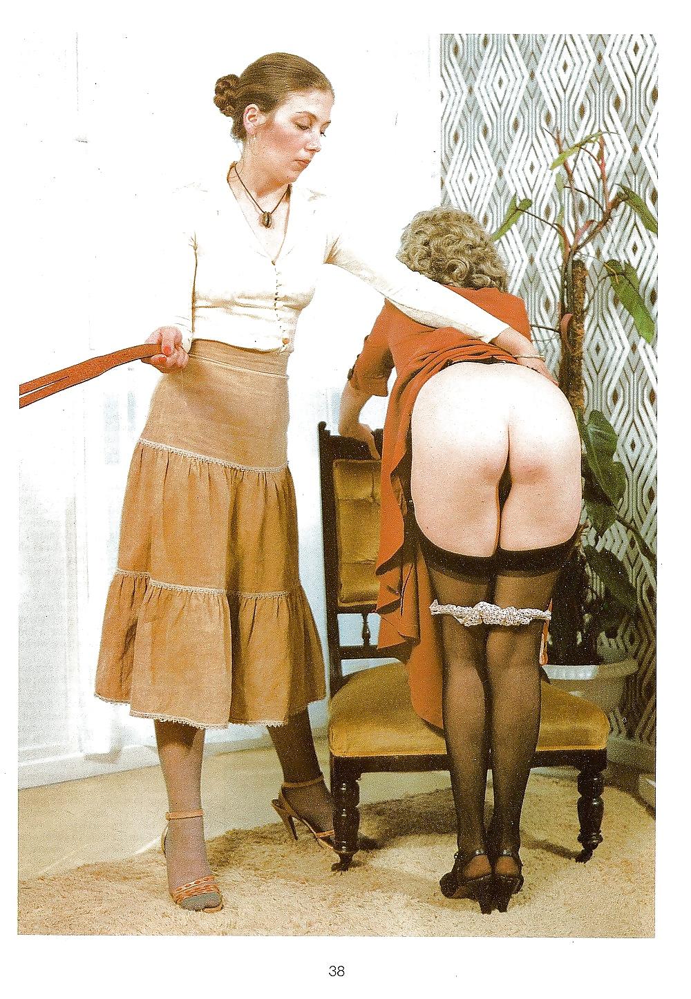 Free vintage spanking porn pics