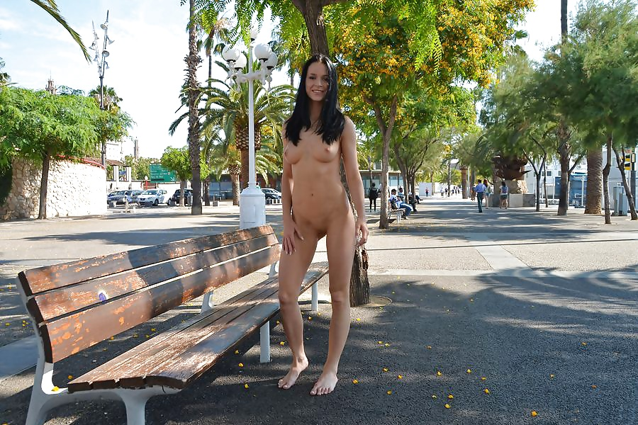 Flashing and nude in public on the beach