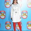 Carol Vorderman Red Leather Leggings
