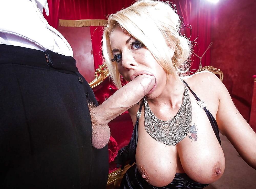 British pornstar jasmine jae gives dp blowjob to danny