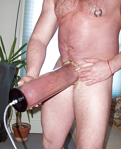Omg trying new electric penis pump while watching big tits