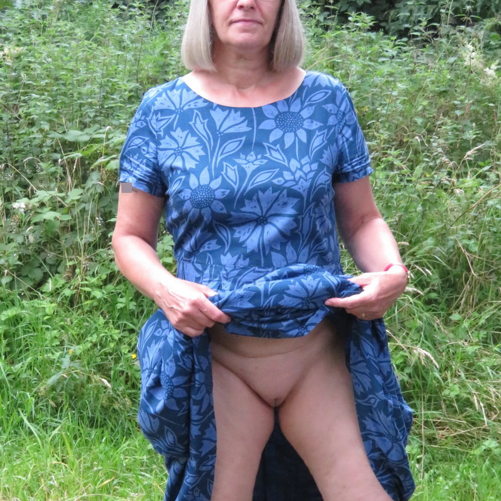 Pantyless in the woods
