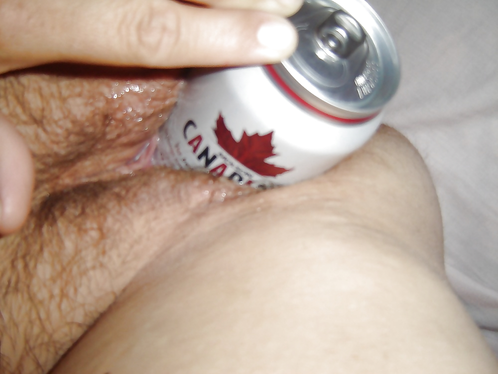 Beer can in ass