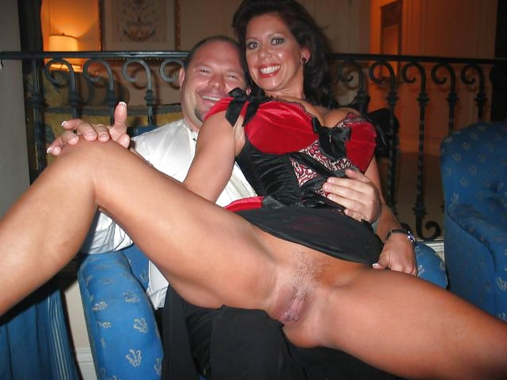 The milf pair of stockings, no panties and easy access