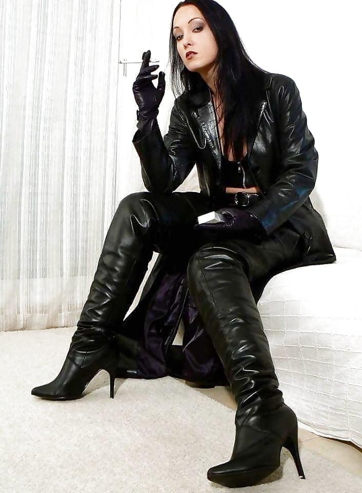 Asmr leather jacket gloves
