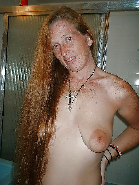 Ugly tit slapping floppy hanging