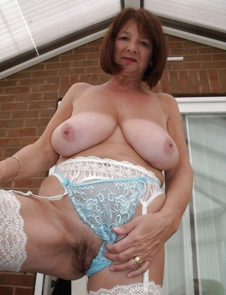 Chubby Old Lady Shows Her Big Tits