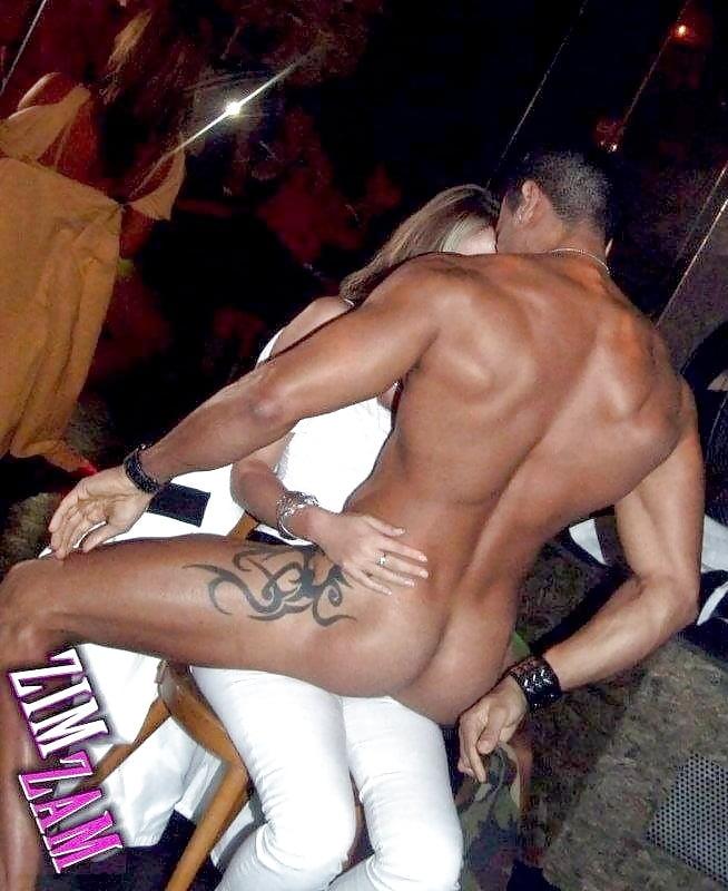 Molesting male strippers