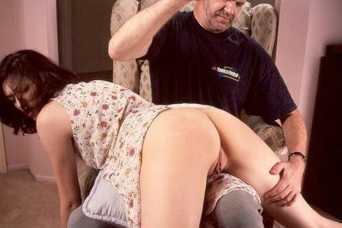 Disobedient Teenage Girl Put Over Daddy's Knee And Spanked