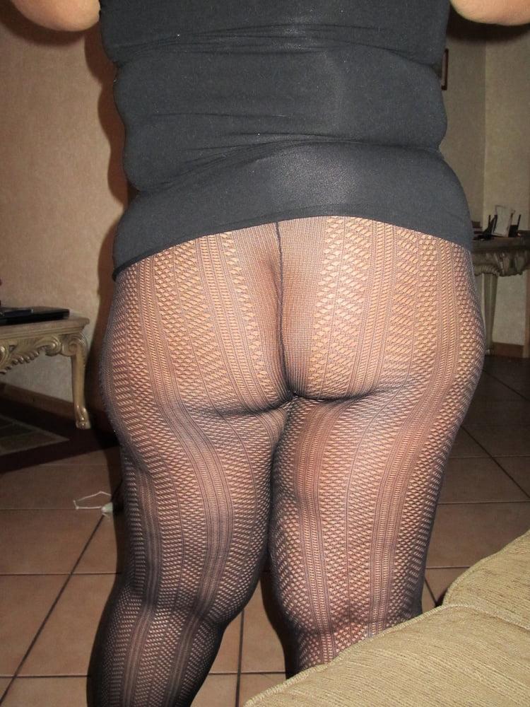 Bbw black pantyhose