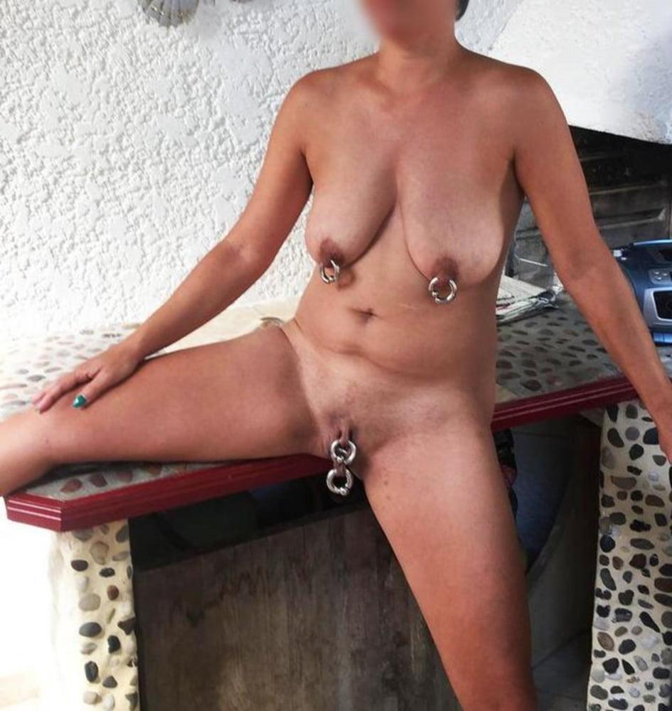 Mature pierced nipples
