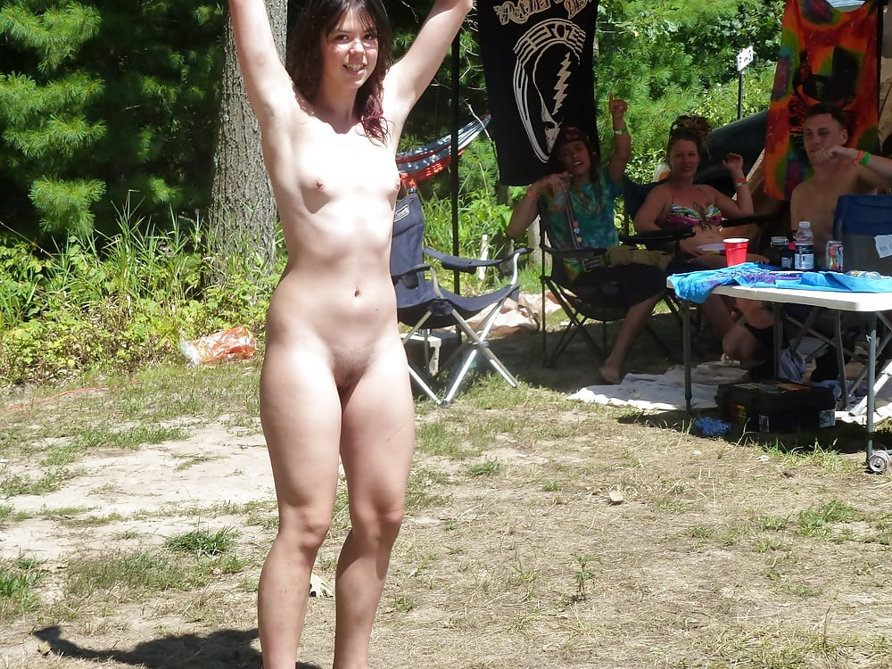 only one naked amateur