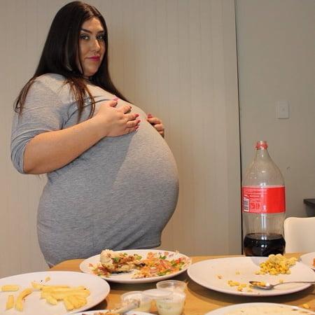 New Porn Photos fat slut food stuffed